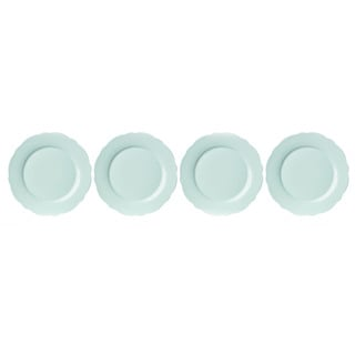 Lenox Butterfly Meadow Solid Green Porcelain Dinner Plates (Pack of 4)