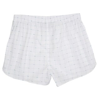 Lacoste Men's White Cotton Woven Croc-print Boxers