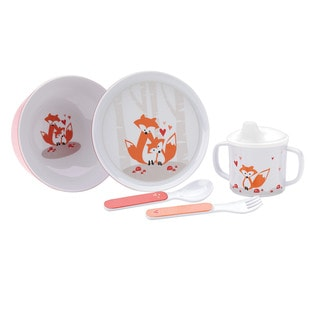 Reed and Barton Hazelnut Hollow Fox 5-Piece Dinnerware Set