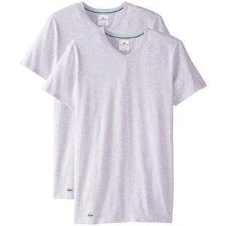 Lacoste Grey Cotton V-neck 2-pack Undershirts