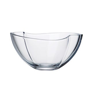 Majestic Gifts Crystalline Glass 11.25-inches Long x 7.75-inches Wide Bowl