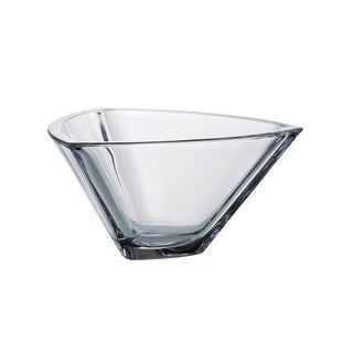 Majestic Gifts Crystalline Clear Glass 9-inch Triangle Bowl