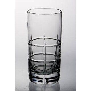 Majestic Gifts Clear Crystal Glass 14-ounce Highball Tumbler (Pack of 4)