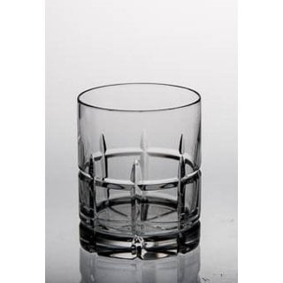 Majestic Gifts Hand-cut Crystal Clear Glass 14-ounce Double Old Fashioned Tumblers (Pack of 4)