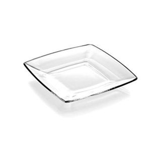 Majestic Gifts Quality Clear Glass 9-inch Plate (Pack of 6)