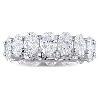 Miadora Signature Collection 18k White Gold 1ct TDW Oval-Cut Diamond Full Eternity Band (2 options available)