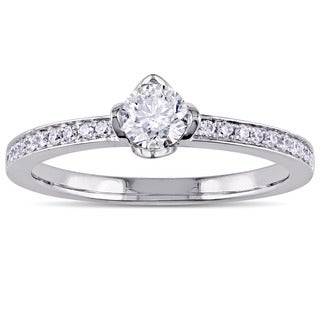 Miadora Signature Collection 14k White Gold 1/2ct TDW Diamond Engagement Ring