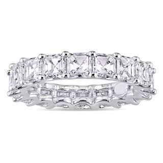 Miadora Signature Collection 18k White Gold 5ct TDW Asscher-Cut Diamond Full-Eternity Band