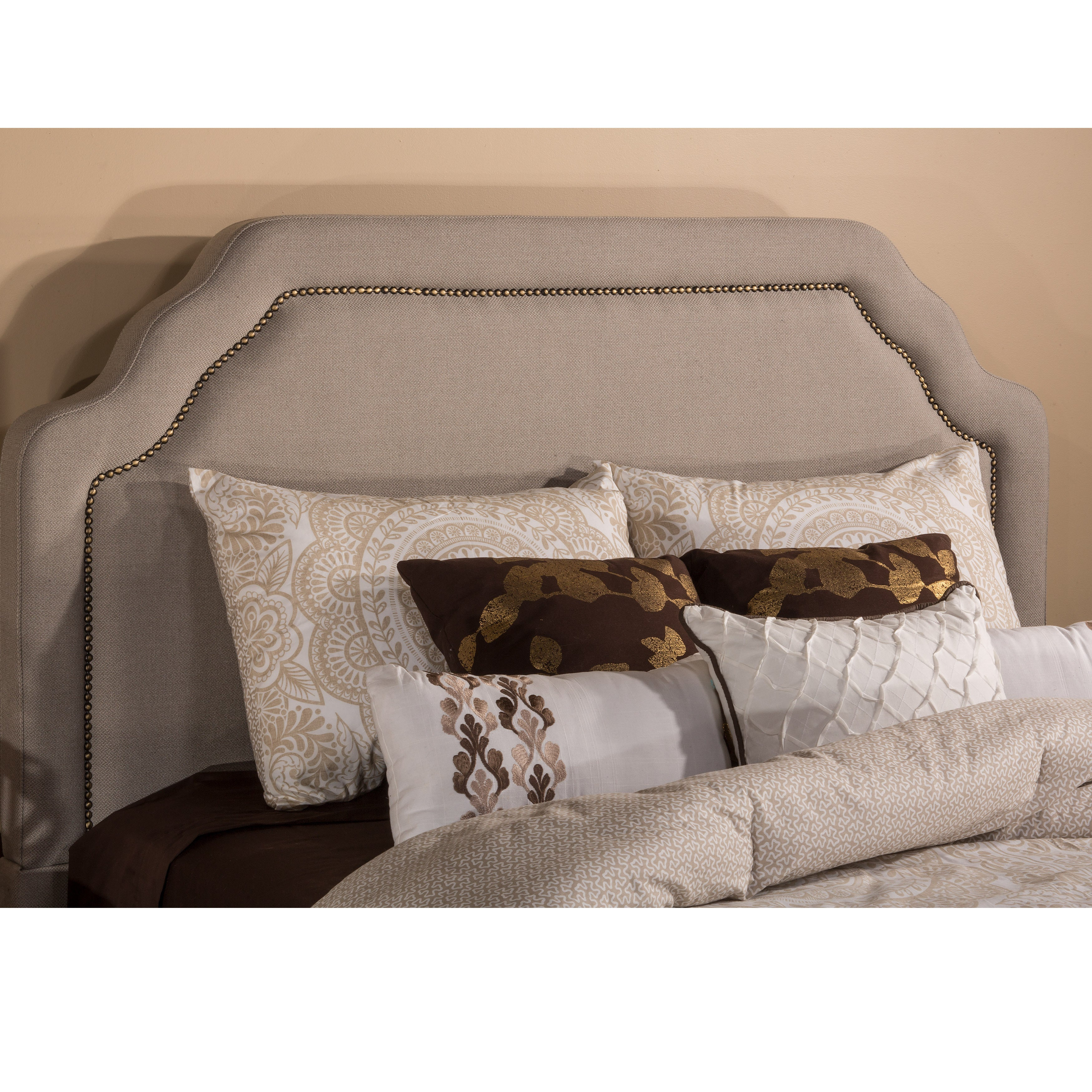 Hillsdale Carlyle Taupe/Beige Wood/Metal/Fabric King/Quee...