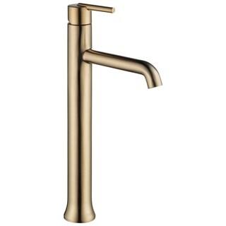 Delta Trinsic: Single Handle Vessel Lavatory Champagne Bronze Faucet