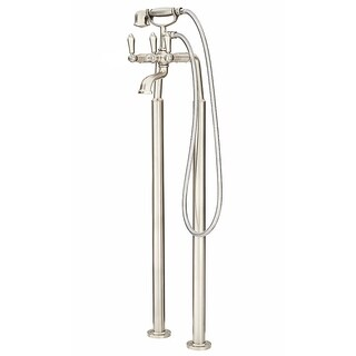 Pfister Traditional Free Standing Tub Filler LG6-1TFK Brushed Nickel