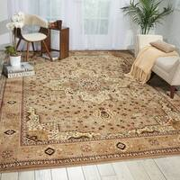 kathy ireland Antiquities Beige Area Rug by Nourison - 7'10 x 10'10