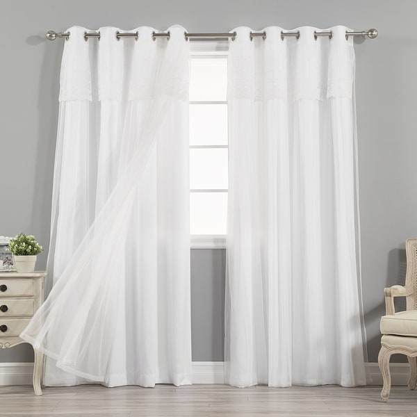 Aurora Home Mix Match Curtains Nordic White Privacy And