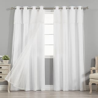 crest home design curtains. Aurora Home MIX  MATCH CURTAINS Nordic White Privacy and Sheer Grommet Curtain Panel Pair Curtains Drapes For Less Overstock com