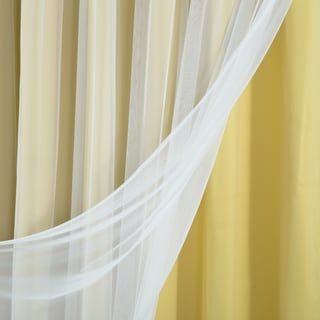 Aurora Home Mix & Match Wide Width Blackout with Tulle Lace Sheer 2-piece Bronze Grommet Curtain Set