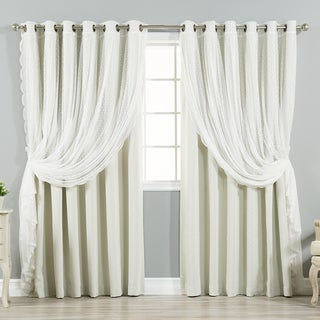 Aurora Home Mix Amp Match Curtains Nordic White Privacy And