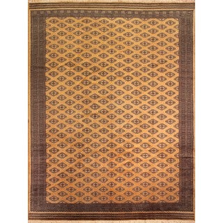 Bokara Jasmin Gold/Black Rug (10'2 x 13'2)