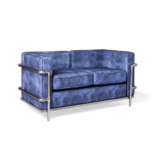 Industrial Blooms Pipe Loveseat Luxe Blue