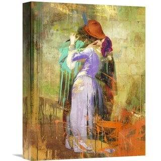 Global Gallery Eric Chestier 'Hayez's Kiss 2.0' Stretched Canvas Artwork