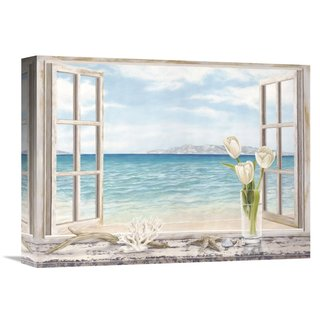 Global Gallery Remy Dellal 'Ocean View' Stretched Canvas Artwork