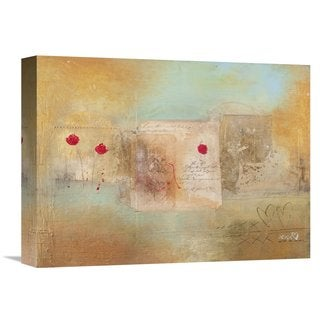 Global Gallery Charaka Simoncelli 'Roses for You' Stretched Canvas Artwork