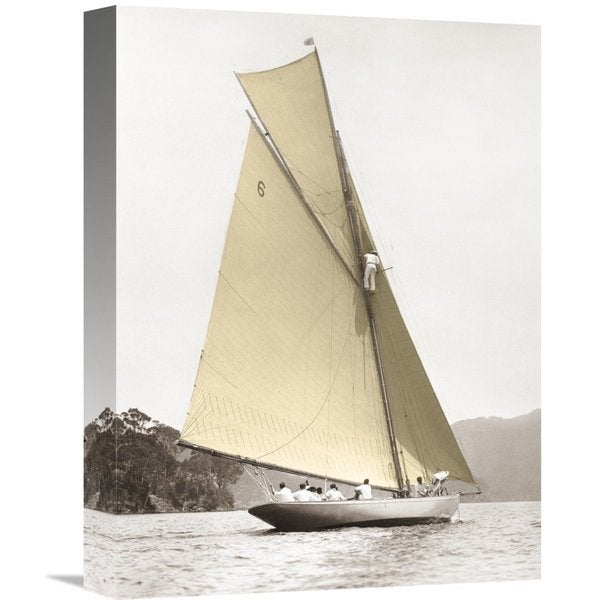 Global Gallery Anonymous 'Vintage yacht' Stretched Canvas Artwork