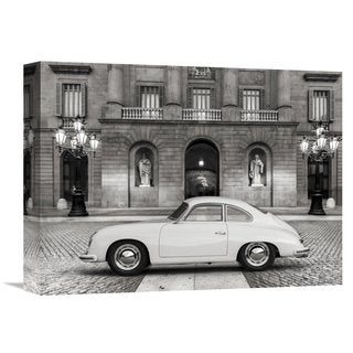 Global Gallery Gasoline Images 'Vintage sports-car 2' Stretched Canvas Artwork