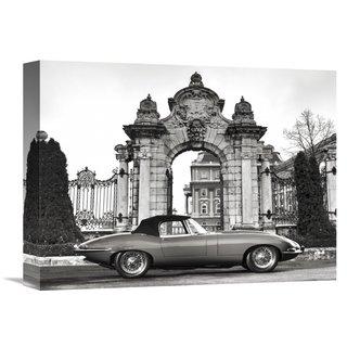 Global Gallery Gasoline Images 'Vintage sports-car 1' Stretched Canvas Artwork