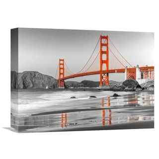 Global Gallery Anonymous 'Baker beach and Golden Gate Bridge, San Francisco' Stretched Canvas Artwork