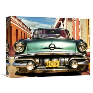 Global Gallery Gasoline Images 'Vintage American Car in Habana, Cuba' Multicolored Canvas Artwork