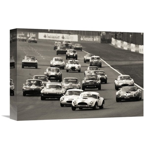 Global Gallery Gasoline Images 'Silverstone Classic Race' Stretched Canvas Artwork