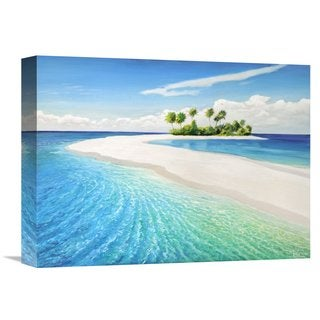 Global Gallery Adriano Galasso 'Isola tropicale' Stretched Canvas Artwork