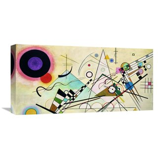 Global Gallery Wassily Kandinsky 'Composition VIII (detail)' Stretched Canvas Artwork