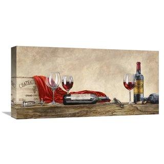Global Gallery Sandro Ferrari 'Grand Cru Wines (detail)' Stretched Canvas Artwork