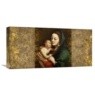 Global Gallery Simon Roux 'Holy Virgin (Italian school)' Stretched Canvas Artwork