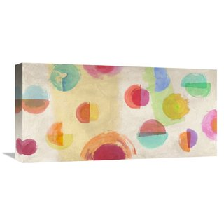 Global Gallery Sandro Nava 'Happiness Happening' Stretched Canvas Artwork