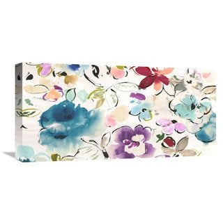 Global Gallery Kelly Parr 'Floral Galore' Stretched Canvas Artwork