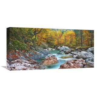 Global Gallery Frank Krahmer 'Mountain brook and rocks, Carinthia, Austria' Stretched Canvas Artwork
