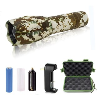 Rechargable, 5-Mode, Adjustable-Focus, Ultra-Bright LED Flashlight Kit (More options available)