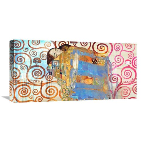 Global Gallery Eric Chestier 'Klimt's Embrace 2.0' Stretched Canvas Artwork