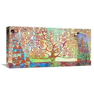 Global Gallery Eric Chestier 'Klimt's Tree of Life 2.0' Stretched Canvas Artwork - Multicolor