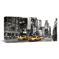 Global Gallery Anonymous 'Taxi in Times Square, NYC' Stretched Canvas Artwork