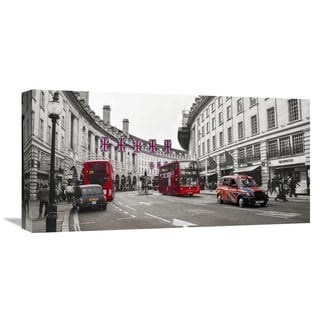 Global Gallery Pangea Images 'Oxford Street London' Multicolored Canvas Artwork
