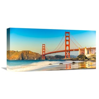 Global Gallery Anonymous 'Golden Gate Bridge, San Francisco' Stretched Canvas Artwork