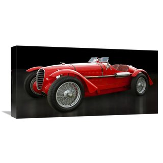 Global Gallery Gasoline Images Vintage Italian race-car Stretched Canvas Artwork