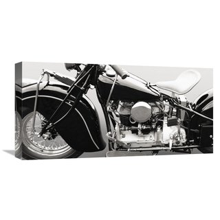 Global Gallery Gasoline Images �Vintage American bike� Stretched Canvas Artwork