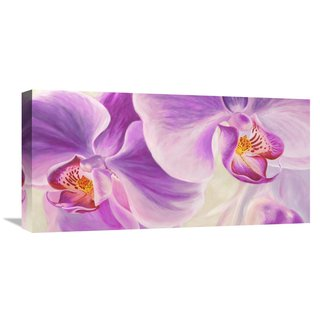 Global Gallery Cynthia Ann �Purple Orchids� Stretched Canvas Artwork
