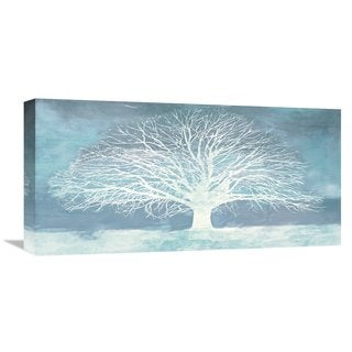 Global Gallery Alessio Aprile Aquamarine Tree Stretched Canvas Artwork