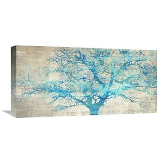 Global Gallery Alessio Aprile �Turquoise Tree� Stretched Canvas Artwork