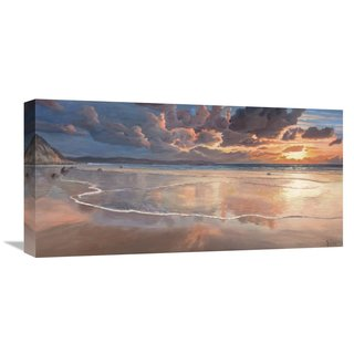 Global Gallery Adriano Galasso �Alba sul mare� Stretched Canvas Artwork